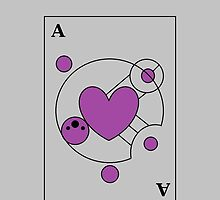 Ace of Hearts Asexual Pride by melswimms