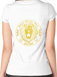 Lion's Pride Back Women's Fitted Scoop T-Shirt