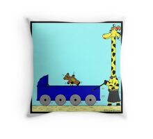Giraffe Pram Throw Pillow