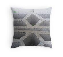 White Pattern Throw Pillow