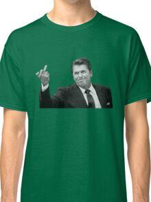 Ronald Reagan Flipping The Bird  Classic T-Shirt