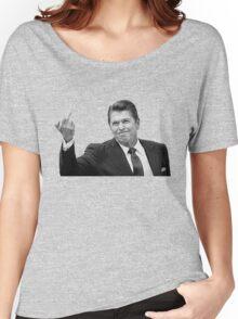 Ronald Reagan Flipping The Bird  Women's Relaxed Fit T-Shirt