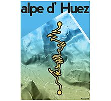 Cycling Poster of Alpe d Huez Photographic Print