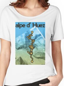 Cycling Poster of Alpe d Huez Women's Relaxed Fit T-Shirt