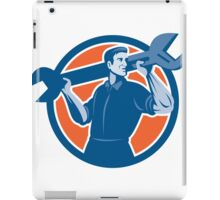 Mechanic Lifting Spanner Wrench Circle Retro iPad Case/Skin