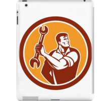Mechanic Clinching Spanner Wrench Circle Retro iPad Case/Skin