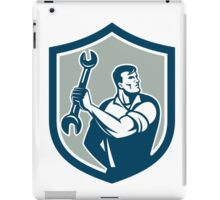 Mechanic Clinching Spanner Wrench Shield Retro iPad Case/Skin