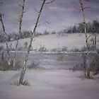 Snowy Pond by Cynthia Kondrick