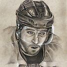 Patrice Bergeron - Boston Bruins Hockey Portrait by HeatherRose