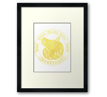 Boars Gluttony Back Framed Print
