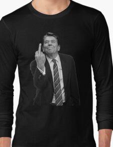 Ronald Reagan Middle Finger Long Sleeve T-Shirt