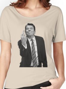 Ronald Reagan Middle Finger Women's Relaxed Fit T-Shirt