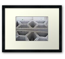 White Abstract Framed Print