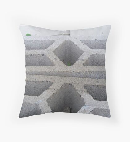 White Abstract Throw Pillow