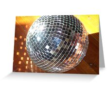 Large Disco ball Greeting Card