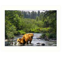 NA694-River Outing Art Print
