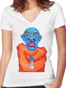 Insane Monster Women's Fitted V-Neck T-Shirt