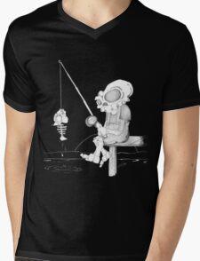 Gone Fishing Mens V-Neck T-Shirt