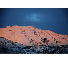 Colored Snow Photographic Print