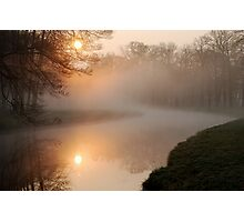 When the sun meets the mist at Groeneveld Photographic Print