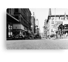 Downtown Providence 1972 Canvas Print