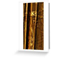 curtain and daisy Greeting Card