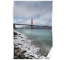 Golden Gate Bridge (Portrait) Poster