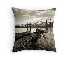 Lake Kootenay Mono Throw Pillow