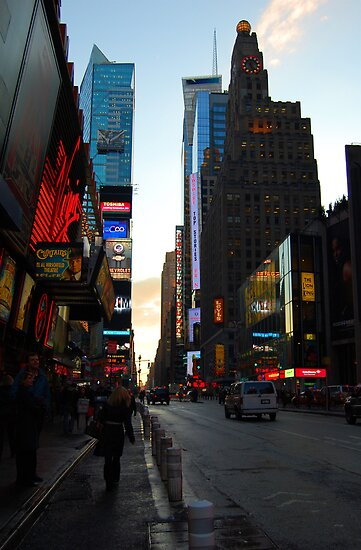 Time Square NYC by Nancy