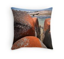 Granite boulders, Binalong Bay, NE Tasmania Throw Pillow