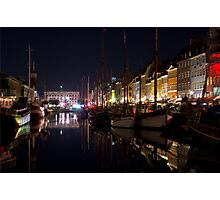 Copenhagen by Night Photographic Print