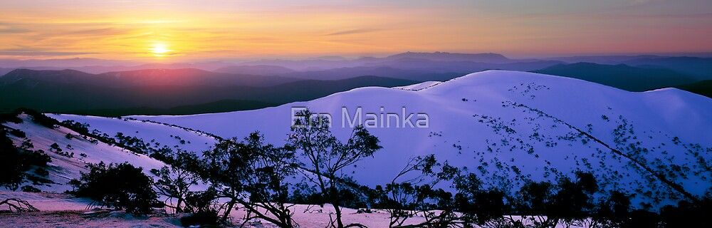 Alpine Sunset by Ern Mainka