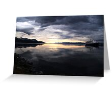 Ushuaia Harbour at Dawn Greeting Card