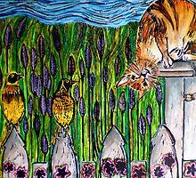 """Three Blind Birds - WOODCUT by Belinda """"BillyLee"""" NYE (Printmaker)"""