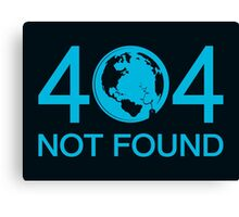 Not Found Canvas Print