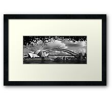 Two Icons - Sydney Harbour Bridge Framed Print