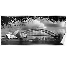 Two Icons - Sydney Harbour Bridge Poster