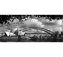 Two Icons - Sydney Harbour Bridge Photographic Print