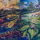 Dragonflies (Acrylics)- by Robert Dye