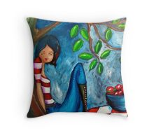 Under the Apple Tree Throw Pillow
