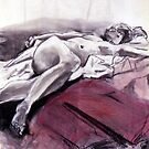 Reclining Nude 009 by Sylvia Karall