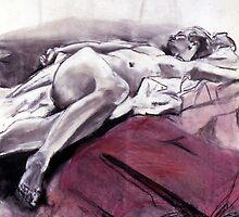 Reclining Nude 009 by Sylvia Karall
