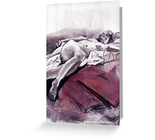 Reclining Nude 009 Greeting Card