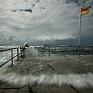 High Tide at Merewether Baths by Mark Snelson