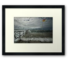 High Tide at Merewether Baths Framed Print