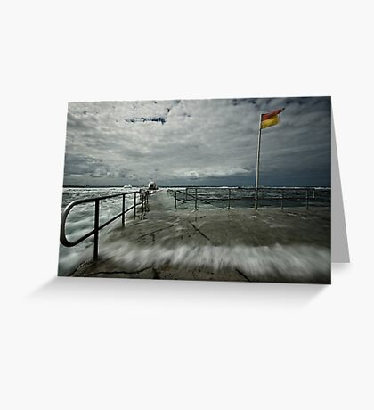 High Tide at Merewether Baths Greeting Card