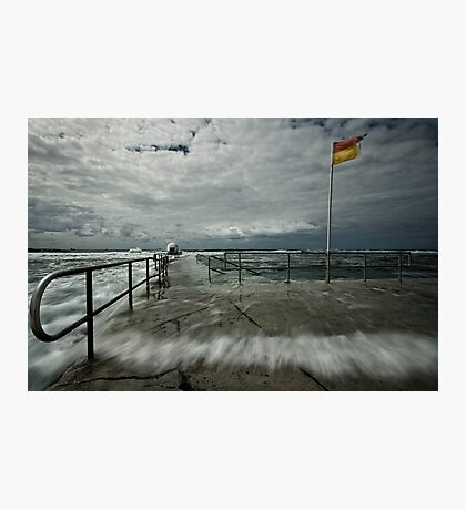 High Tide at Merewether Baths Photographic Print