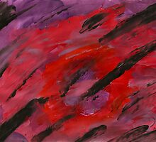 Red and Purple Fingerpainting by karen66