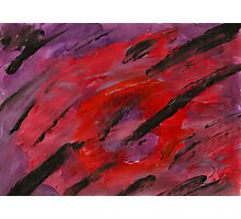 Red and Purple Fingerpainting Photographic Print
