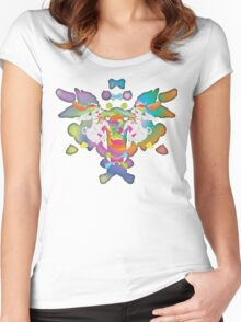 Peanut's Psychedelic Party Time Women's Fitted Scoop T-Shirt